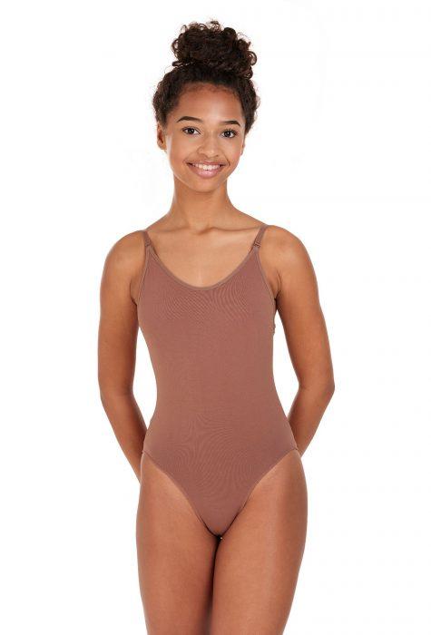 silky body stocking for dancers dark nude